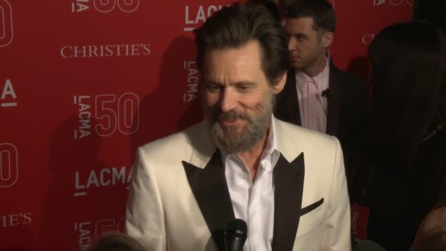 Jim Carrey at LACMA's 50th Anniversary Gala at LACMA on April 18 2015 in Los Angeles California