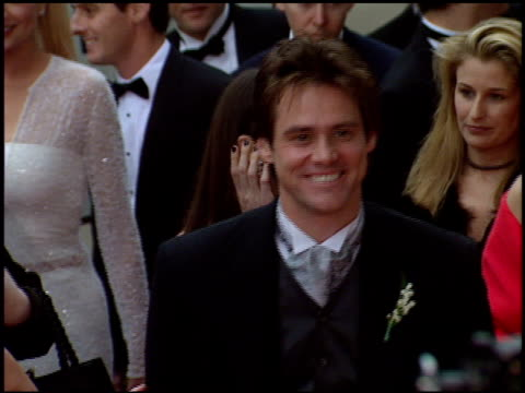 Jim Carrey at the 1998 Golden Globe Awards at the Beverly Hilton in Beverly Hills California on January 18 1998