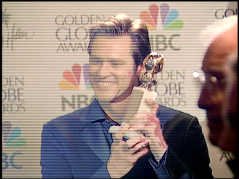 Jim Carrey at the 2000 Golden Globes Dreamworks Party at the Beverly Hilton in Beverly Hills California on January 23 2000