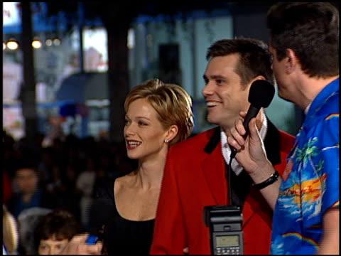Jim Carrey at the 'Ace Ventura II When Nature Calls' Premiere on November 8 1995
