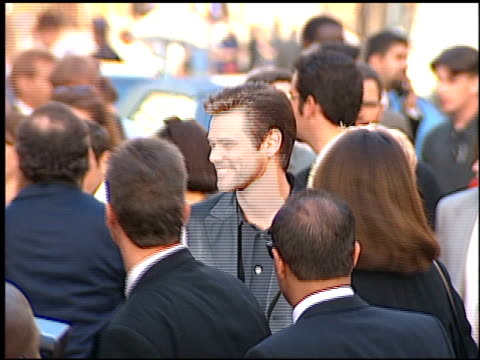 jim carrey at the 'cable guy' premiere at grauman's chinese theatre in hollywood california on june 10 1996 - 1996 stock videos and b-roll footage