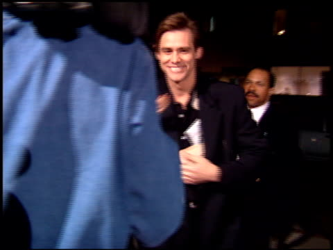 Jim Carrey at the 'Cobb' Premiere at Academy Theater in Beverly Hills California on November 29 1994
