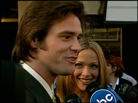 Jim Carrey at the Premiere of 'The Truman Show' at National Theater in Westwood California on June 1 1998