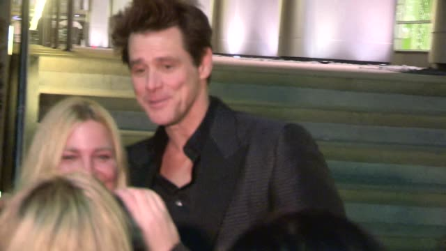 Jim Carrey greets fans comments on Dumb Dumber To at the WME Party Celebrity Sightings in Los Angeles on in Los Angeles California