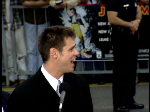 Jim Carrey speaks at his induction to the Walk of Fame in Hollywood