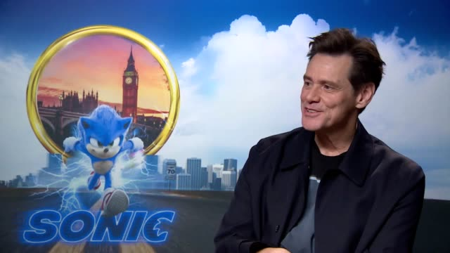 jim carrey the star of the forthcoming sonic the hedgehog film reveals how he enjoyed getting into the physicality of the his evil villain character... - jim carrey bildbanksvideor och videomaterial från bakom kulisserna