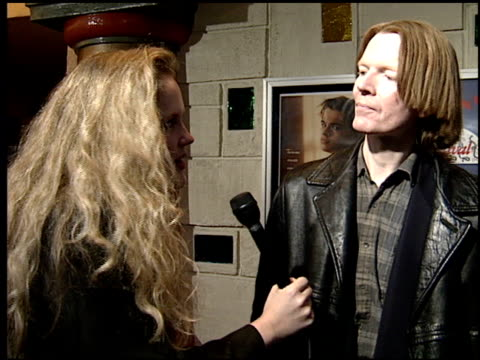 jim carroll at the 'basketball diaries' premiere on april 19, 1995. - jim carroll stock videos & royalty-free footage
