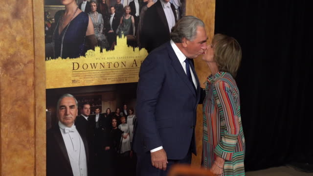 "jim carter and penelope wilton at ""downton abbey"" new york premiere at alice tully hall on september 16, 2019 in new york city. - premiere stock videos & royalty-free footage"