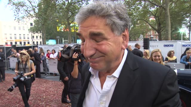 INTERVIEW Jim Carter on the new series of Downton Abbey and the charity at 'Downton Abbey' Exclusive Charity Preview