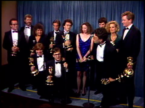 jim downey at the 1989 emmy awards backstage at the pasadena civic auditorium in pasadena california on september 17 1989 - pasadena civic auditorium stock videos & royalty-free footage