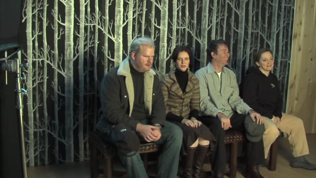 Jim Gaffigan Amber Tamblyn Timothy Hutton and Hilary Brougher at the 2006 Sundance Film Festival HP Portrait Studio presented by Wireimage at...