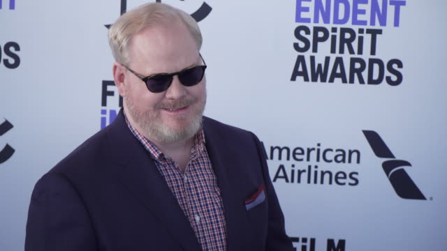 jim gaffigan at the 2020 film independent spirit awards on february 08 2020 in santa monica california - film independent spirit awards stock videos & royalty-free footage