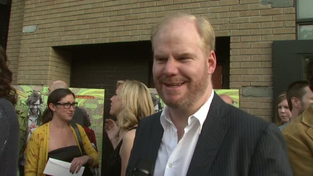 jim gaffigan talking about his character at the 'away we go' screening at new york ny - away we go video stock e b–roll
