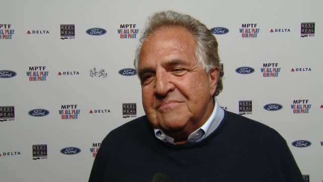 interview jim gianopulos on what the mptf does working in hollywood at the 7th annual reel stories real lives event benefiting mptf at directors... - director's guild of america stock videos & royalty-free footage