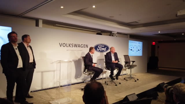 NY: Ford And Volkswagen Unveil Plans On New Collaboration