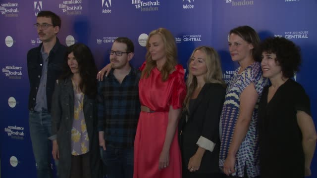 jim hosking debra granik ari aster toni collette crystal moselle amy adrion jennifer fox at picturehouse central on may 31 2018 in london england - photo call stock videos & royalty-free footage
