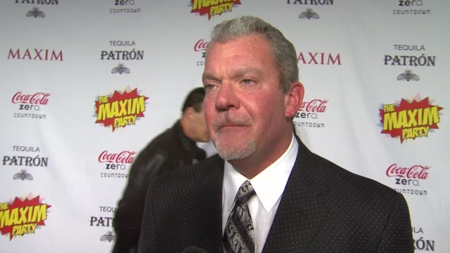 jim irsay on what brings him out the the maxim super bowl party how it feels to have the city of indianapolis hosting super bowl having colts fans... - paul mitchell stock videos and b-roll footage