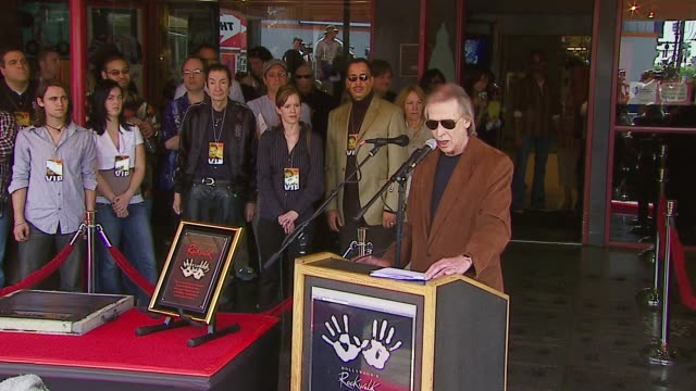 Jim Ladd at the Induction of Kenny Loggins Into The Rockwalk of Fame at Guitar Center in Hollywood California on March 7 2007