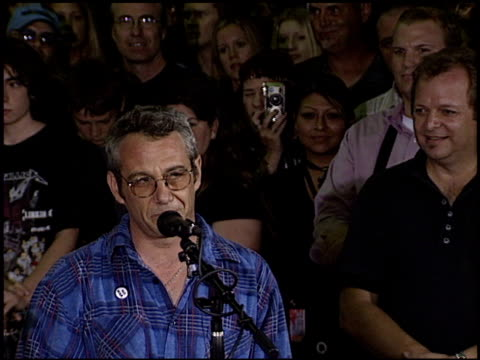 Jim Ladd at the Sonic Youth Rockwalk at Guitar Center in Hollywood California on August 18 2003