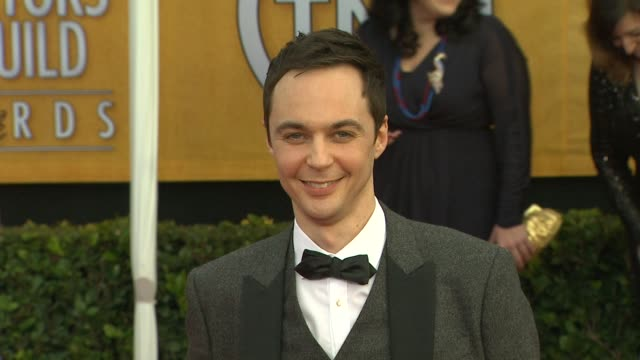 jim parsons at 19th annual screen actors guild awards arrivals on 1/27/13 in los angeles ca - jim parsons stock videos and b-roll footage