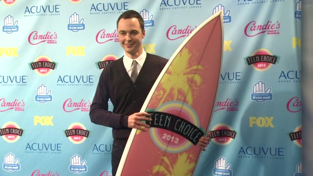 jim parsons at 2013 teen choice awards press room on 8/11/2013 in universal city ca - jim parsons stock videos and b-roll footage