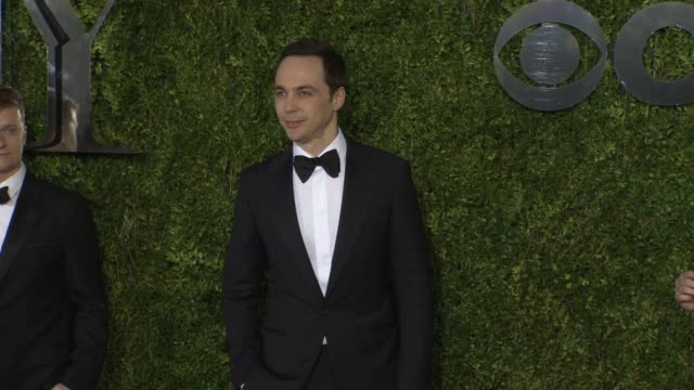 jim parsons at 2015 tony awards - arrivals at radio city music hall on june 07, 2015 in new york city. - 2015 stock videos & royalty-free footage