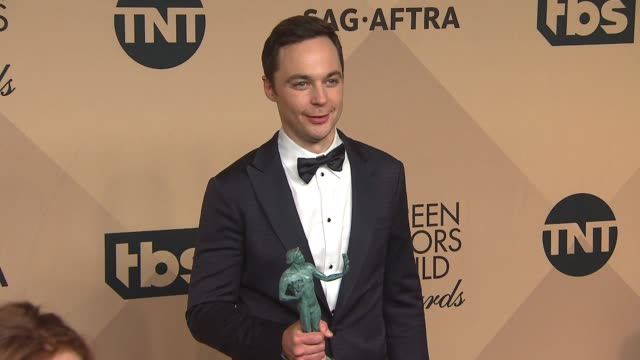 jim parsons at 23rd annual screen actors guild awards press room photo room at the shrine expo hall on january 29 2017 in los angeles california - jim parsons stock videos and b-roll footage
