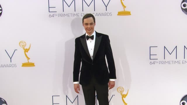 jim parsons at 64th primetime emmy awards arrivals on 9/23/12 in los angeles ca - jim parsons stock videos and b-roll footage
