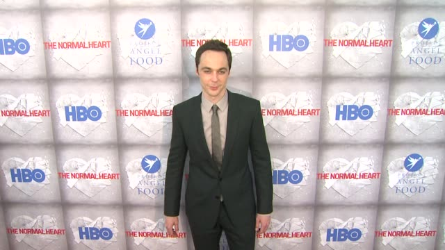 jim parsons at hbo film's the normal heart los angeles premiere at writers guild theater on may 19 2014 in beverly hills california - jim parsons stock videos and b-roll footage