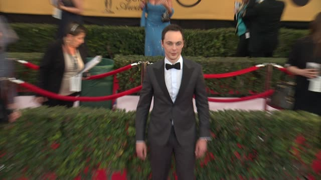jim parsons at the 21st annual screen actors guild awards arrivals at the shrine auditorium on january 25 2015 in los angeles california - jim parsons stock videos and b-roll footage