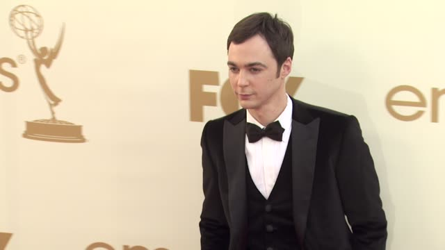 jim parsons at the 63rd primetime emmy awards arrivals part 2 at los angeles ca - jim parsons stock videos and b-roll footage