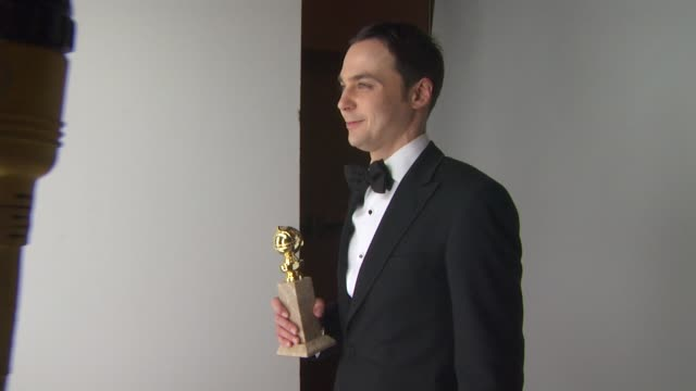 jim parsons at the 68th annual golden globe awards backstage photo booth at beverly hills ca - jim parsons stock videos and b-roll footage
