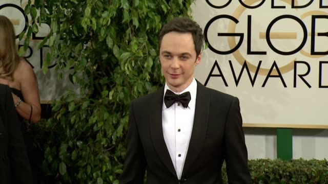 jim parsons at the 71st annual golden globe awards arrivals at the beverly hilton hotel on in beverly hills california - jim parsons stock videos and b-roll footage