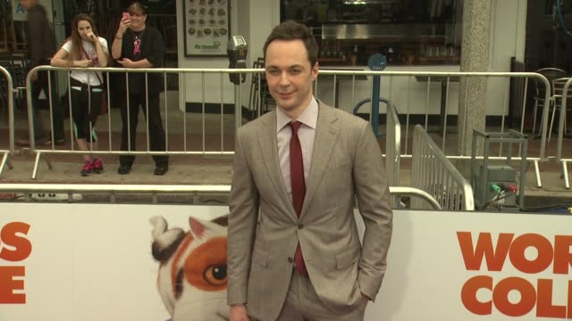 jim parsons at the home los angeles premiere at regency village theatre on march 22 2015 in westwood california - jim parsons stock videos and b-roll footage