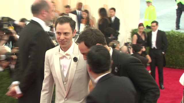 jim parsons charles james beyond fashion costume institute gala arrivals at the metropolitan museum on may 05 2014 in new york city - jim parsons stock videos and b-roll footage