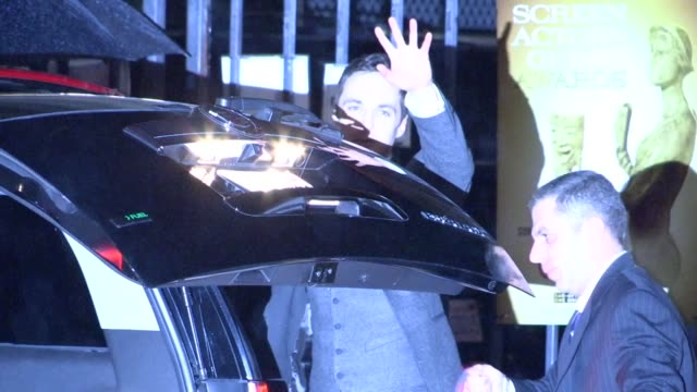 jim parsons departs sag awards after party at celebrity sightings in los angeles jim parsons departs sag awards after party at cele at the shrine... - jim parsons stock videos and b-roll footage