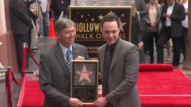 chyron jim parsons honored with star on the hollywood walk of fame in hollywood ca on - jim parsons stock videos and b-roll footage