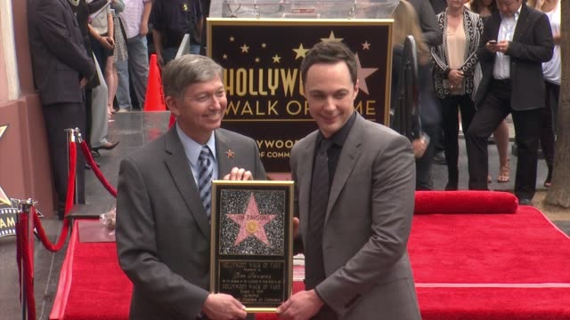 clean jim parsons honored with star on the hollywood walk of fame in holywood ca on - jim parsons stock videos and b-roll footage
