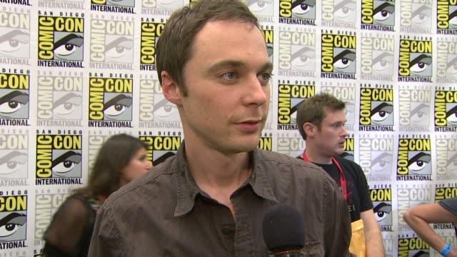 Jim Parsons on being at ComicCon at the ComicCon 2009 'Big Bang Theory' Press Line at San Diego CA