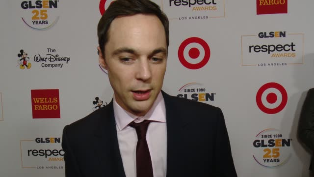 interview jim parsons on why its important for him to support glsen talks about the glsen student ambassadors and what we need to continue to do to... - jim parsons stock videos and b-roll footage