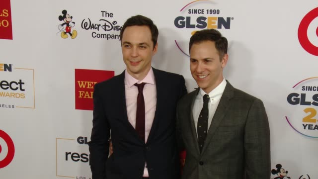 jim parsons todd spiewak at 11th annual glsen respect awards – los angeles in los angeles ca - jim parsons stock videos and b-roll footage