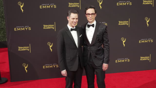 jim parsons todd spiewak at the 2019 creative arts emmy awards day 2 - jim parsons stock videos and b-roll footage