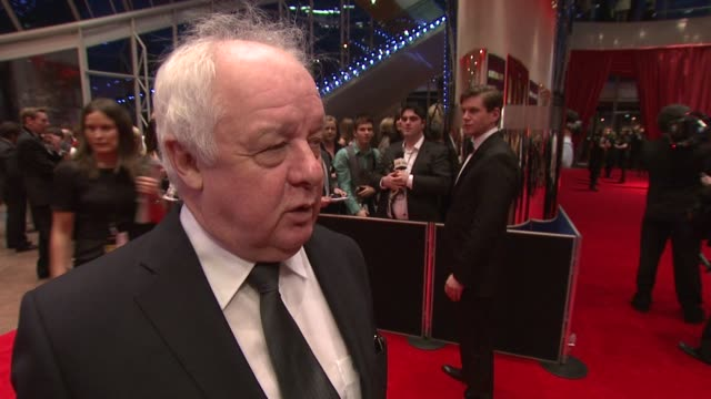 jim sheridan on the awards, on irish film, on iftas, and ireland as a place to shoot at the iftas at convention centre dublin, ireland on february... - irish film and television awards stock videos & royalty-free footage