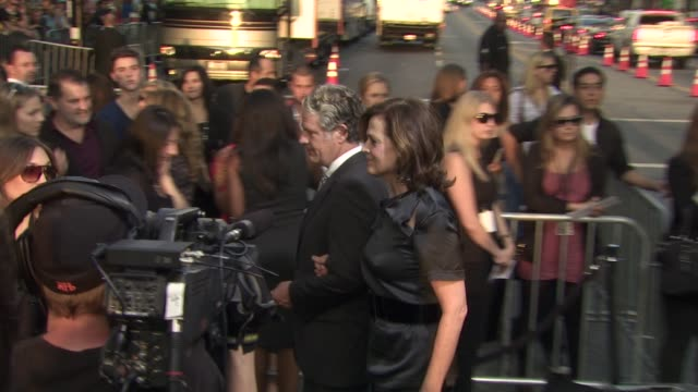 jim simpson sigourney weaver at the 'abduction' premiere at hollywood ca - sigourney weaver stock videos & royalty-free footage