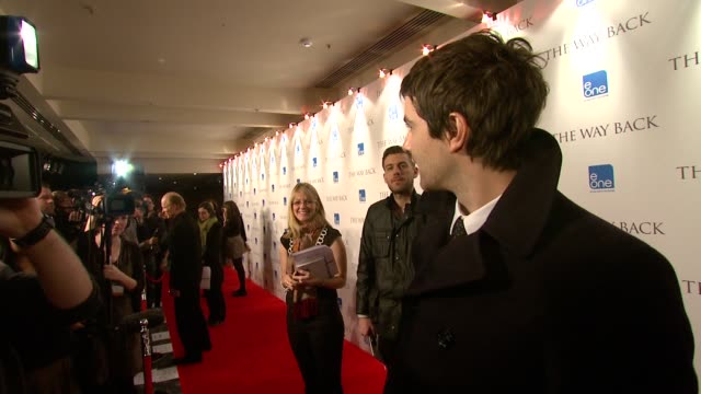 Jim Sturgess and Ed Harris at the The Way Back Premiere at London England