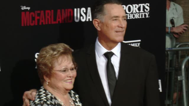 "jim white and cheryly white at the ""mcfarland, usa"" los angeles premiere at the el capitan theatre on february 09, 2015 in hollywood, california. - el capitan theatre stock videos & royalty-free footage"