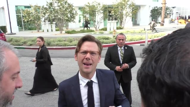 interview jimmi simpson talks about thandie newton saying she likes to act nude outside the westworld fyc screening at saban media center in north... - thandie newton stock videos & royalty-free footage