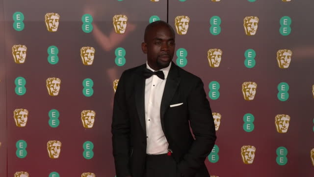 jimmy akingbola on red carpet at bafta film awards 2020 - formal stock videos & royalty-free footage