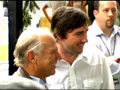 Jimmy Buffett and Luke Wilson at the 'Hoot' Premiere at the Pacific Theaters at The Grove in Los Angeles California on April 15 2006