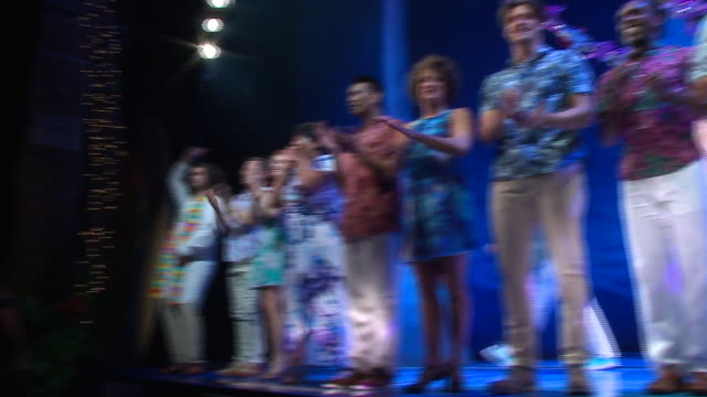 WGN Jimmy Buffett arrived at the end of the curtain call for Escape to Margaritaville at the Oriental Theatre on the musical's opening night in...